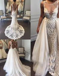 wedding dress with detachable buy fabulous sleeveless sheath lace wedding dress with