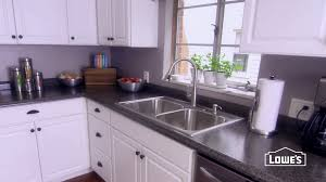 bathroom grey lowes counter tops with double sink and white