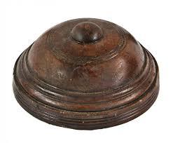 Interior Newel Post Caps C 1886 1887 Solid Darkly Varnished Victorian Era Oak Wood