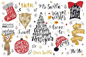 quote happy christmas merry christmas quotes lettering set happy new year 2018