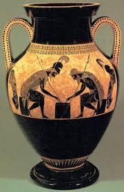 Greek Black Figure Vase Painting Greek Art U0026 Architecture Archaic Black Figure Pottery Exekias