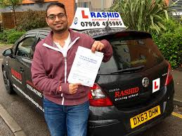 srikanth passed his manual car driving test with rashid driving