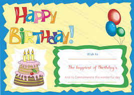 birthday gift certificate templates certificate templates