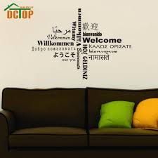 online get cheap wall decal languages aliexpress com alibaba group all kinds language welcome wall sticker text creative home decor vinyl removable art wall decal for