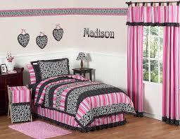 elegant pink black white ruffled girls bedding twin comforter