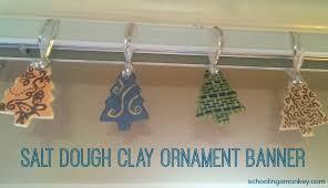 salt dough clay ornament banner recipe and tutorial