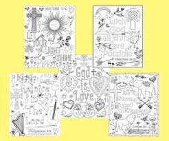 bible verse coloring pages set of 5 instant download