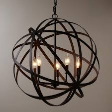 Orb Chandelier Fantastic Large Metal Orb Chandelier Industrial Style And Metals