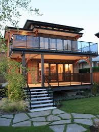 balcony with glass railing houzz