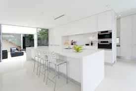 white modern kitchen ideas modern all white kitchen kitchen and decor