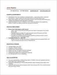 Sample Resume Undergraduate by Real Estate Resume Templates Real Estate Agent Resume Samples