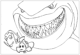 shark finding nemo coloring pages download printable