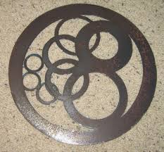 circles in circle metal wall art geometric home