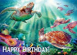 hawaiian happy birthday greeting card turtle voyage steve sundram