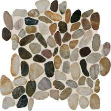 earthy blend river pebble mosaic saw cut stone mosaics trendy