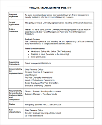 travel policy template 6 a sample expenses policy template