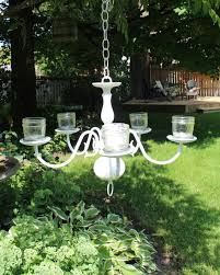 Create A Chandelier Garden Chandelier Made From A Vintage Find New House New Home