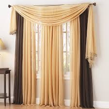 corona curtain savannah sheer panel fringe trim on end of scarf