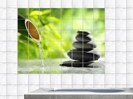 badezimmer fliesenaufkleber fliesenaufkleber fliesenbild wellness bambus entspannung wc