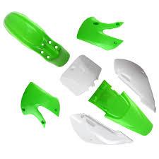 kawasaki klx 110 drz 110 kx 65 plastic body kits greennew ebay