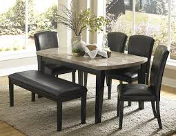 Modern Bench Dining Table Dining Room Modern Dining Set With Square Granite On Top Table