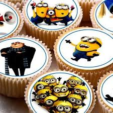 edible minions 24 icing cupcake cake toppers decorations edible minion minions