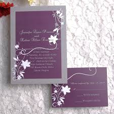 Plum Wedding Cheap Rustic Floral Plum Wedding Invitations Ewi001 As Low As 0 94