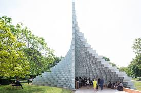 it s that big s unzipped wall serpentine pavilion opens