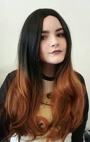 autumn elm lush wigs black brown ombre dip dye lush wig