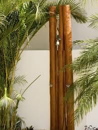 bambus design gartendusche bambus stange palme design konzept