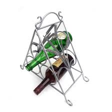 bottle wrought iron wine rack