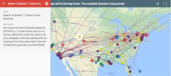 map of be interactive map of every quantum leap series jump boing boing