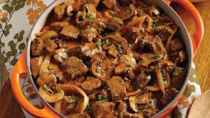 cuisiner boeuf bœuf stroganoff sauce crémeuse rosée recettes iga farine