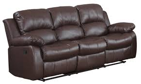 brown leather sofa and loveseat classic 3 seat bonded leather double recliner sofa walmart com