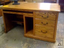 Solid Oak Office Desk Od Solid Oak Traditional Desk Furniture Portland Office