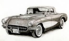 vintage cars drawings 1957 chevrolet corvette c1 by classic motors on deviantart
