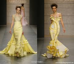 yellow dresses for weddings wedding dresses in yellow and white