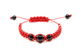 tina black agate bracelet for kids downstairs jewelry