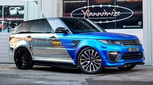 chrome land rover my svr wrapped in satin chrome blue youtube