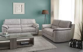 canapé 3 2 tissu ensemble canapé 3 2 en tissus coloris gris clair et gris éléphant bultex