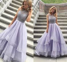 beading tiered ball gown prom dresses 2017 charming scoop