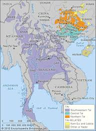 Map Of Thailand Ethno Linguistic Distribution Map Of Kra Dai Family Thailand