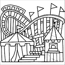 theme park coloring pages coloring page