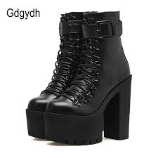 womens leather boots gdgydh fashion motorcycle boots leather autumn metal