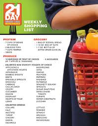 the 21 day weight loss breakthrough diet shopping list the dr