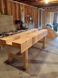 i made a paul sellers style workbench over winter break lemme