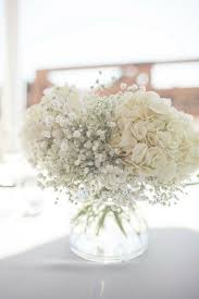 Centerpieces For Baptism For A Boy by Hydrangeas And Baby U0027s Breath Centerpieces Beautiful Decoration