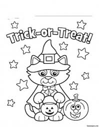 halloween coloring pages for kids free halloween kitty costume printabel coloring pages printable