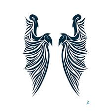 yeeech temporary tattoos sticker for large wings