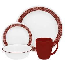 corelle livingware bandhani 16 pc dinnerware set shop world